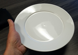 Hold level and keep fingers off the plate.-